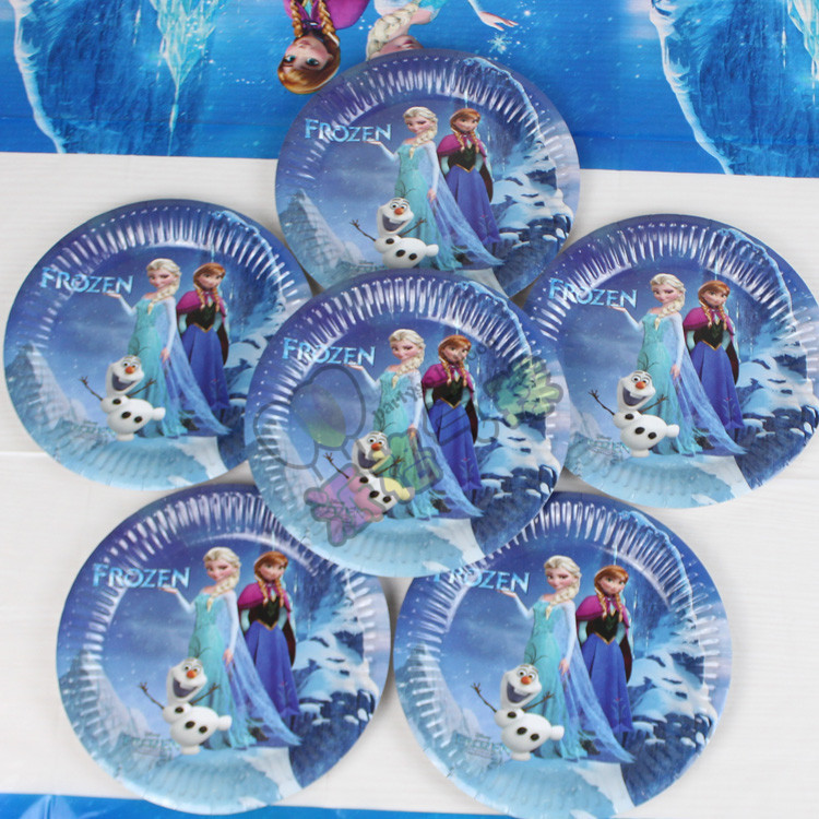 frozen theme elsa and anna princess Paper Plate baby \ kids birthday party decoration