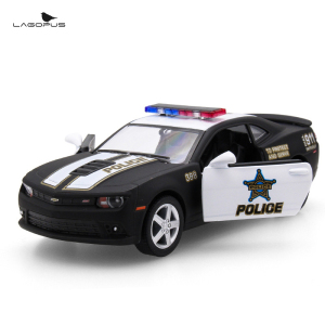 1:38 Scale Car Toys Chevrolet Camaro Police Edition Diecast Metal Pull Back Car Model Toy Collection Gift For Kids