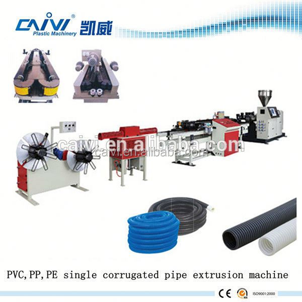 PE/PP single wall corrugated pipe/hose extrusion machine