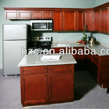 Cherry Red Kitchen Cabinets And Poplar Solid Wood Kitchen Cabinet And  Shaker Style Cherry Kitchen Cabinet - Buy Cherry Red Kitchen  Cabinets,Poplar ...