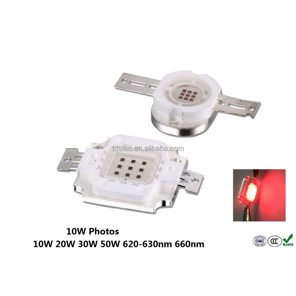 400 - 500lm RED 10 Watt COB High Power LED 620 - 625 - 630 - 660nm with 5 years warranty
