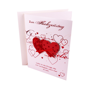 2019 Heart Shape Wedding Invitation Card Greeting Card