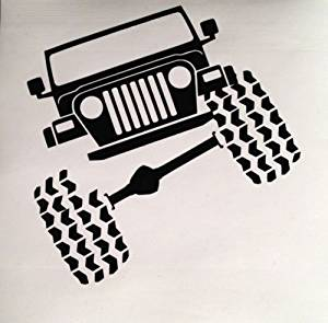 Jeep Wrangler TJ Funny Vinyl Decal Sticker Truck iPad Offroad Got Mud? Macbook, Die cut vinyl decal for windows, cars, trucks, tool boxes, laptops, MacBook - virtually any hard, smooth surface