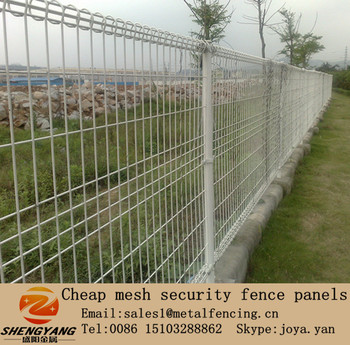 Easy installation wire mesh panels for garden economic for Easy fence installation