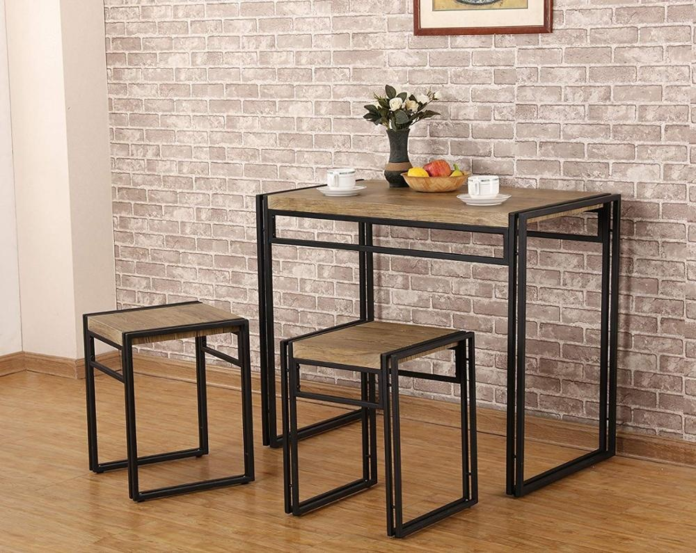 3 Piece Dining Bistro Table Set Indoor Kitchen Pub Table Set For Small  Spaces Sonoma Oak - Buy Breakfast Table,Bistro Table,Dining Bistro Table  Set ...