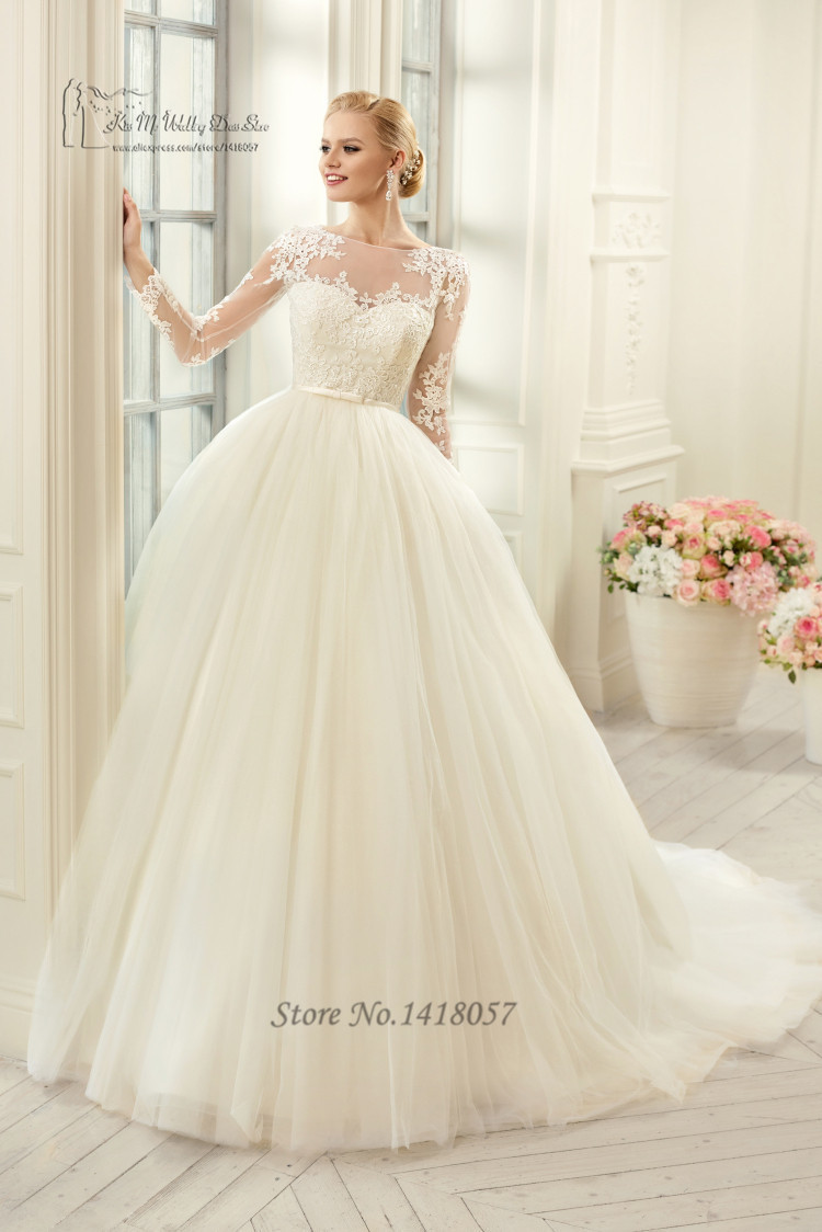 Cheap Ball Gown Wedding Dresses: Cheap Vintage Wedding Gowns Lace Ball Gown Bridal Dress