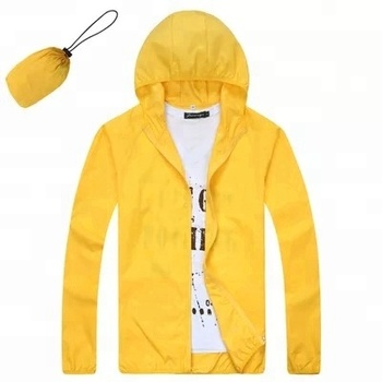 waterproof foldable UV protection lightweight windbreaker skin light jacket