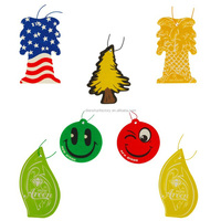 2017 Best cars air freshener 7 colors vehicle air freshners pendant safe natural spice material Auto decoration tree emoji style