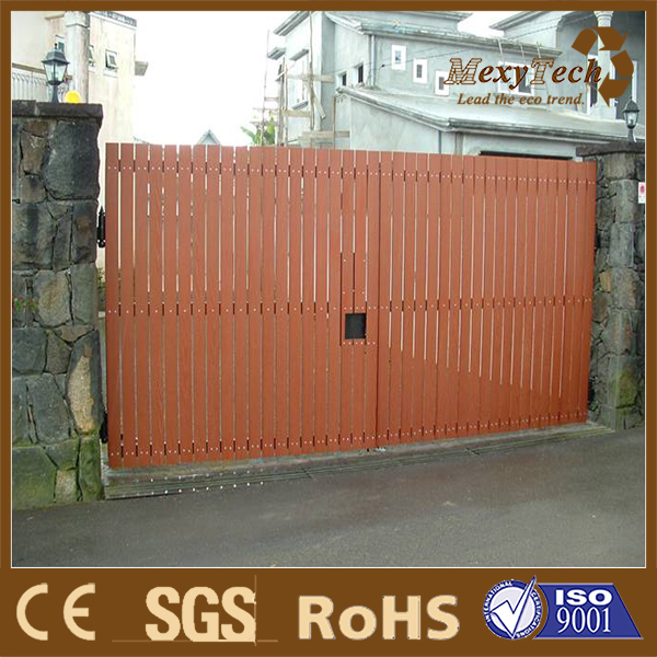 guangzhou wpc manufactuer wpc fencing with locked gate