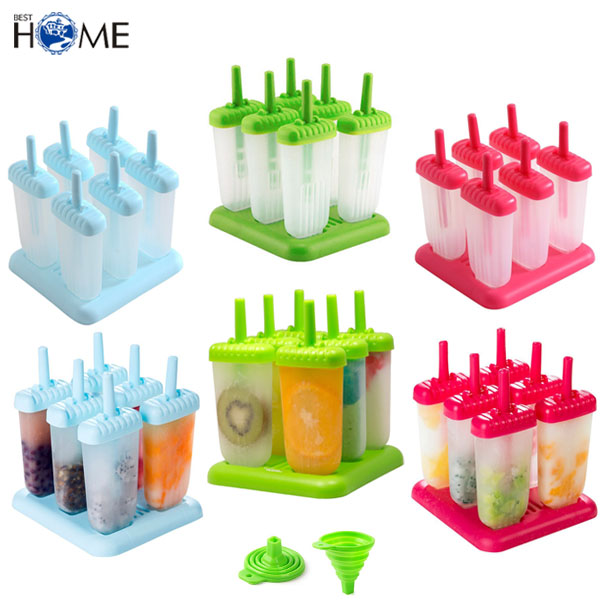 Set von 6 Custom Ice Pop Maker 18/8 Edelstahl Popsicle Mold