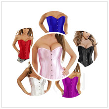 Classic hot explosion models in Europe and the United States Court corset Smooth Satin Body underwear trade goods