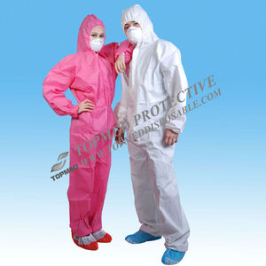 HOT SALE Disposable working coverall nonwoven pink mechanic coveralls