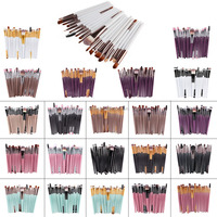 AIDEN- Factory directly sales 20pcs synthetic hair eye makeup brush for eye and lip beauty care with cheap price
