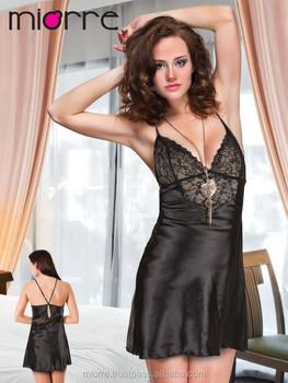 Sexy black night gown