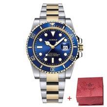AAA LGXIGE часы для мужчин лучший бренд класса люкс Rolexable водонепроницаемые часы для мужчин спортивные мужские часы Полный алмаз GMT наручные ква...(Китай)