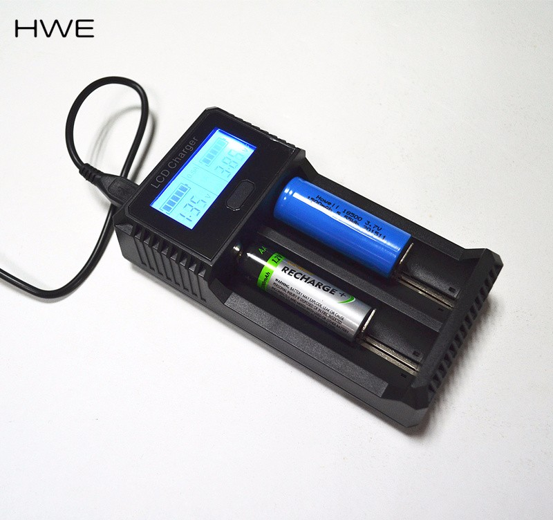 Smart Battery Charger LCD Rechargeable for AA//AAA// NiCd Lithium-ion Battery