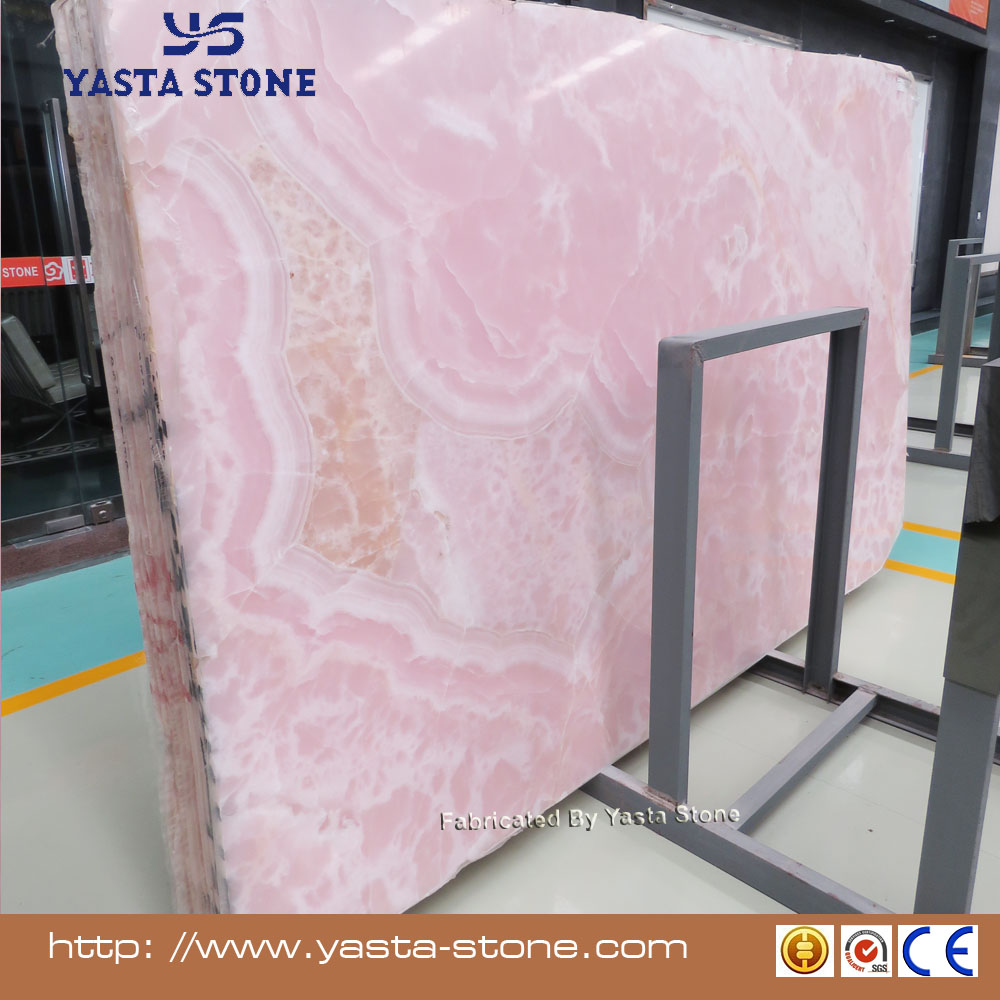 High Quality Tiles Pink Marble Purple Onyx Slabs