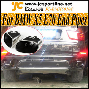 Pair of 304 Statinless Steel X5 Exhaust Pipe, E70 Auto Car Muffler Tips for BMW X5 E70 07~10