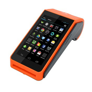 5 inch Android handheld pos terminal with 58mm receipt printer and IC/MSR/NFC from factory