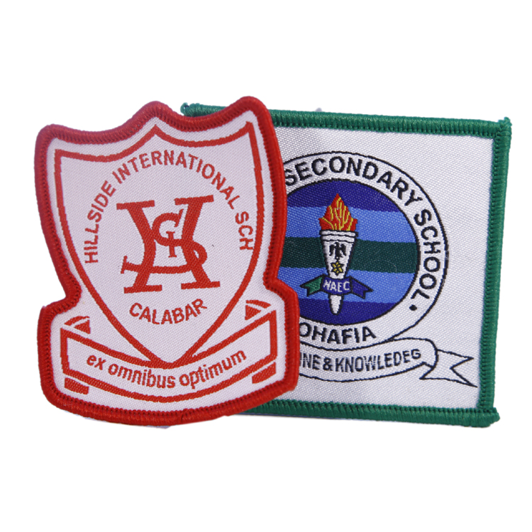 Custom School Uniform Shoes Bags Tie Woven Patches
