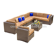 Sigma woven outdoor furniture rattan couch modern corner