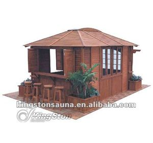 Large Outdoor Wooden Pavilion/Gazebo Bar(China)
