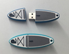 Personalized surfboard shape PVC 8GB USB flash drive