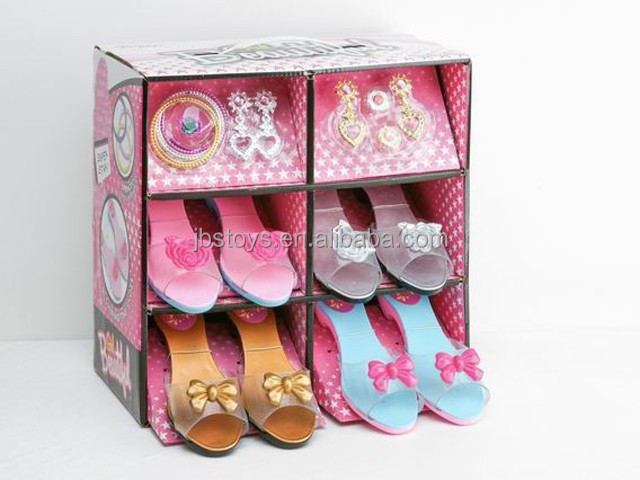 Girls play set kids plastic high heels toy TA15030095