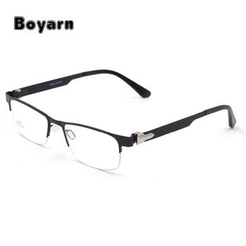 Trendy Titanium Alloy Optical Eyeglasses Frames Semi-rimless Alloy ...