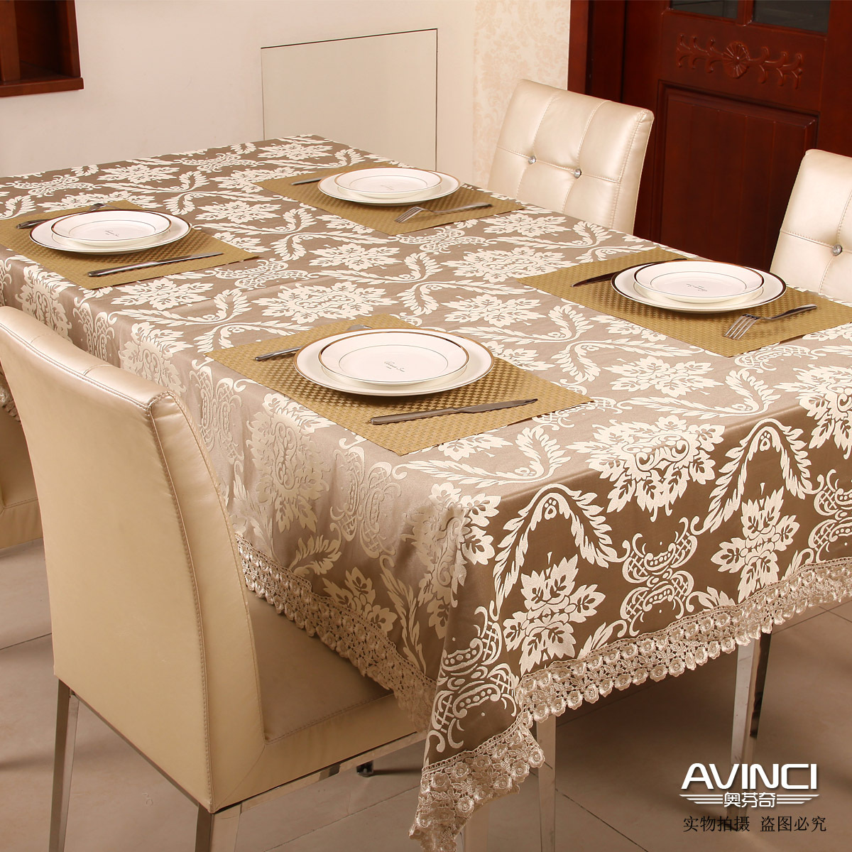 Free Shipping Fashion Elegant Fabric Of Luxury Dining
