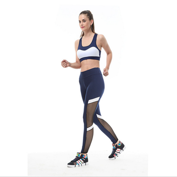 6fd9f7a8f73e8 gym training tights outdoor running breathable mesh yogo fitness leggings