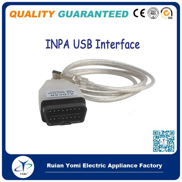 Professional Diagnostic Scanner Cable INPA K+DCAN for OBD interface protocol with USB