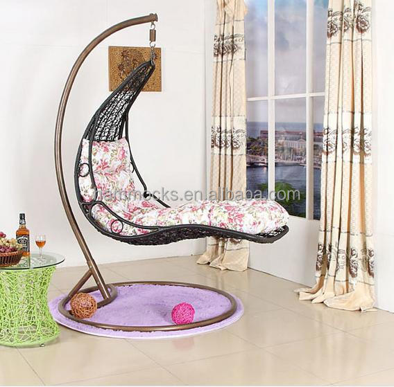 Rattan hanging chair/garden swing chairs /indoor swing chair with ...