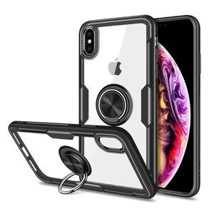 new product 2019 for iphone xs transparent clear acrylic plate ring grip carbon fiber odm phone case holder for iphone xs max