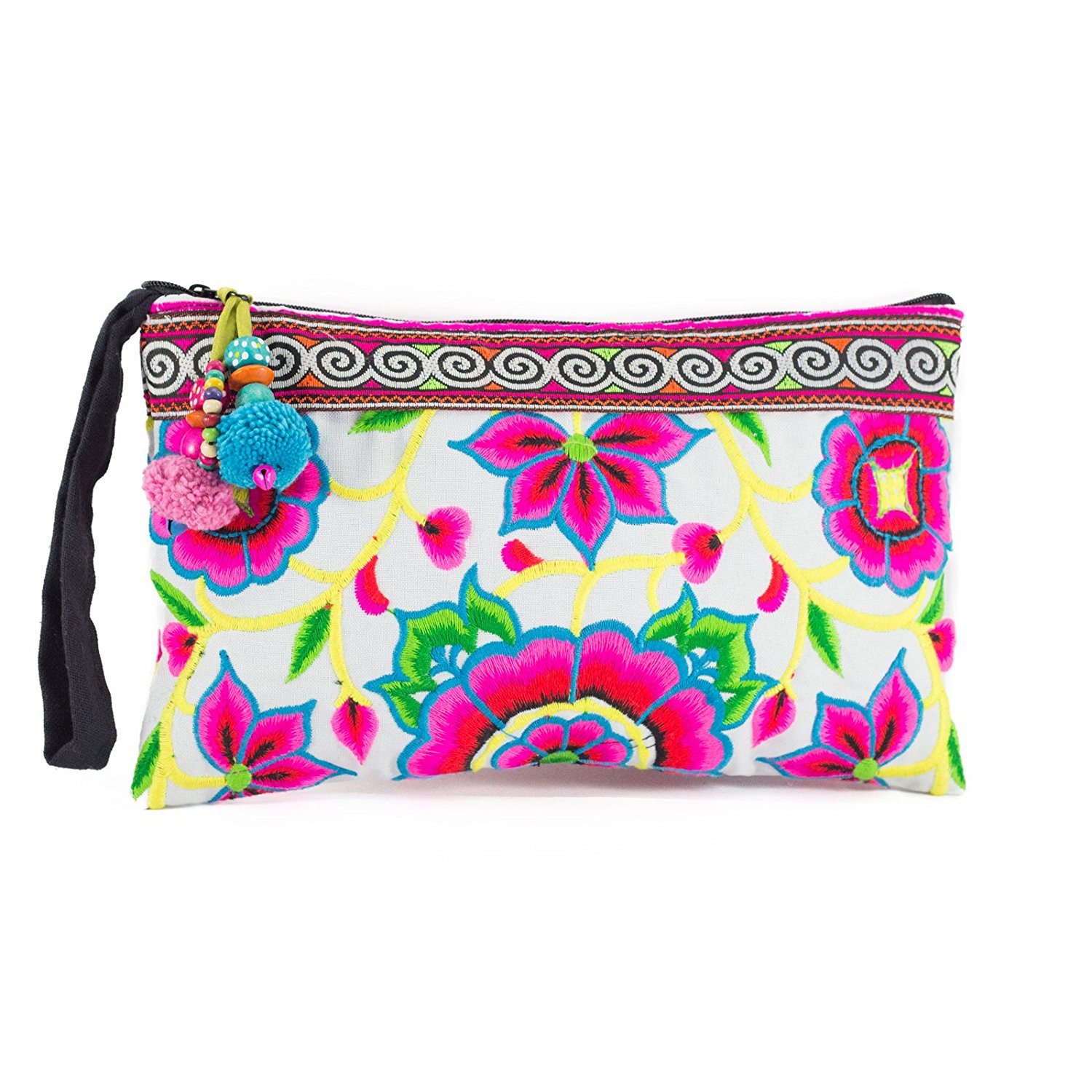 Changnoi Lime Hill Tribe Tote Bag Made By Thai Hmong Ethnic Purse Fair Trade