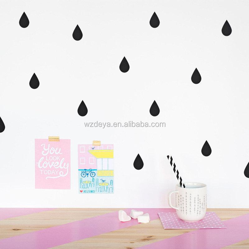 Pluie Baisse Stickers Muraux 56 pc Mur Autocollants Pour Nursery-Beaucoup De Couleurs Fabrication Les fabricants, fournisseurs, exportateurs, grossistes