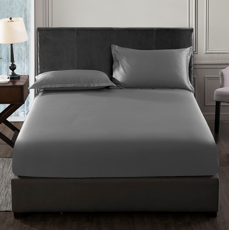 variety of sizes elastic mattress cover bed linen bedspread 100s cotton satin plain bed fitted sheet