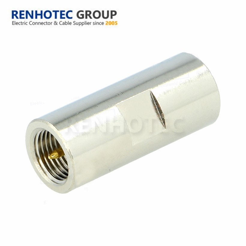 FME Plug to FME Plug Nickel RF Coaxial Adapter