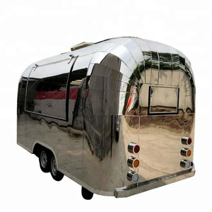 CE certificate China hot selling towable fast food trailer