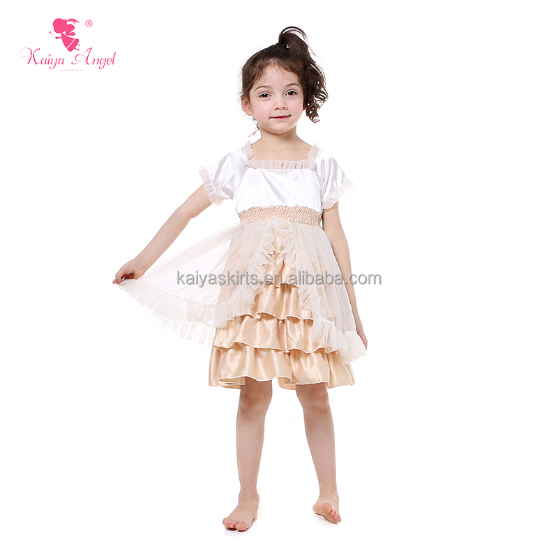 summer wear sleeveless ivory satin baby girl beautiful long frocks images