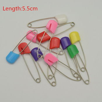 5 5cm length baby diaper pins w colorful plastic safety head