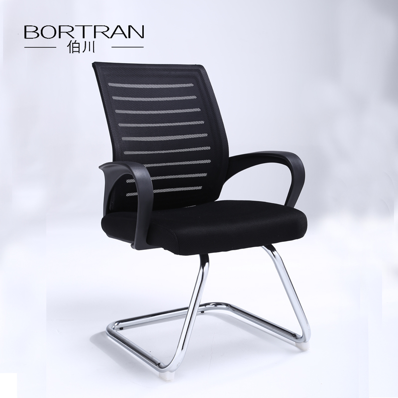 Square Back Chair Reception Conference Office Mesh Visitor Chair with Mesh Back