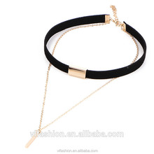 2017 most popular womens choker necklace black for wholesale