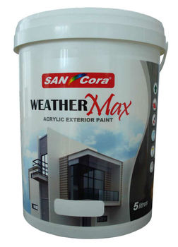 Exterior paint sancora weather max acrylic exterior paint view weather resistant exterior - Temperature for exterior painting ...
