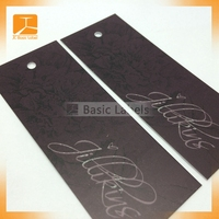 Wholesale Accept Custom Paper Swing Tags, Garment Tags,clothing hang tags and labels