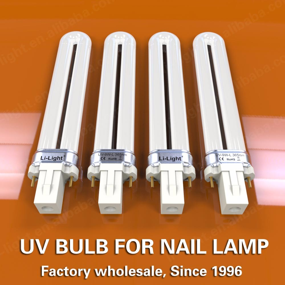 Factory whosale CFL nail bulb for 36W nail lamp bulb 9W U shape uv bulb