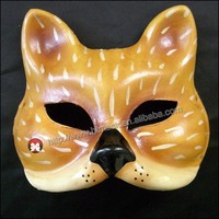 handcraft intellectual development Hand-painted Pulp Plaster Covered Paper Mache Mask cat Female Male Mask