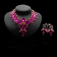 New fashion Nigerian jewelry sets women necklace and earring set necklace jewelry set