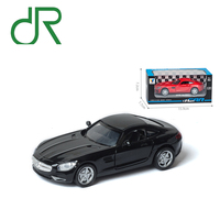Mini world Black pull back alloy toy car can open the door