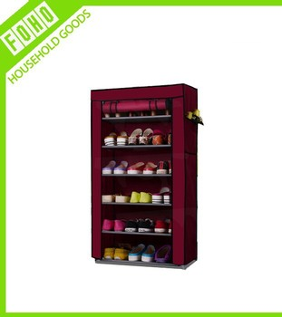 Non Woven Canvas Fabric Shoes Storage Cabinet Organiser Shoe Rack ...